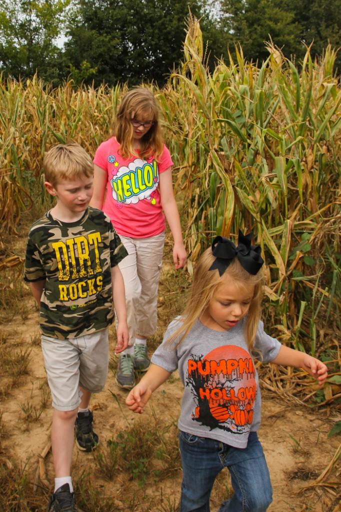 kids in maze